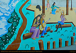 The People of Venice vs. the Developers, the Jaya Mural (detail), Emily Winters and Jaya Collective 1975, Venice, California