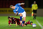 St Johnstone v St Mirren...20.09.11   Scottish Communities League Cup Third Round.Chris Van Zanten tries to catch Willie Gibson.Picture by Graeme Hart..Copyright Perthshire Picture Agency.Tel: 01738 623350  Mobile: 07990 594431