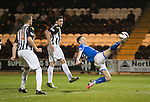 St Mirren v St Johnstone...25.03.14    SPFL<br /> Steven MacLean reaches for the ball but fails to make contact<br /> Picture by Graeme Hart.<br /> Copyright Perthshire Picture Agency<br /> Tel: 01738 623350  Mobile: 07990 594431