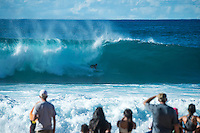 Pipeline-Backdoor, North Shore, Oahu, Hawaii. (Sunday December 11, 2016):  Finn McGill (HAW) - The Men's Pipe Invitational, the selection trials for the Billabong Pipeline Masters was run today at Backdoor and Pipeline. Two surfers, Finn McGill (HAW) and Gavin Beschen (HAW) won there way through to the main event. 32 surfers started in the trials with four man heats running all day through to final. McGill combo the other finalists with Beschen filling second spot. The NW swell meant a lot of the surfing was at Backdoor with the occasional Pipeline wave. <br /> Photo: joliphotos - The Men's Pipe Invitational, the selection trials fro the Billabong Pipeline Masters was run today at Backdoor and Pipeline. Two surfers, Finn McGill (HAW) and Gavin Beschen (HAW) won there way through to the main event. 32 surfers started in the trials with four man heats running all day through to final. McGill combo the other finalists with Beschen filling second spot. The NW swell meant a lot of the surfing was at Backdoor with the occasional Pipeline wave. <br /> Photo: joliphotos