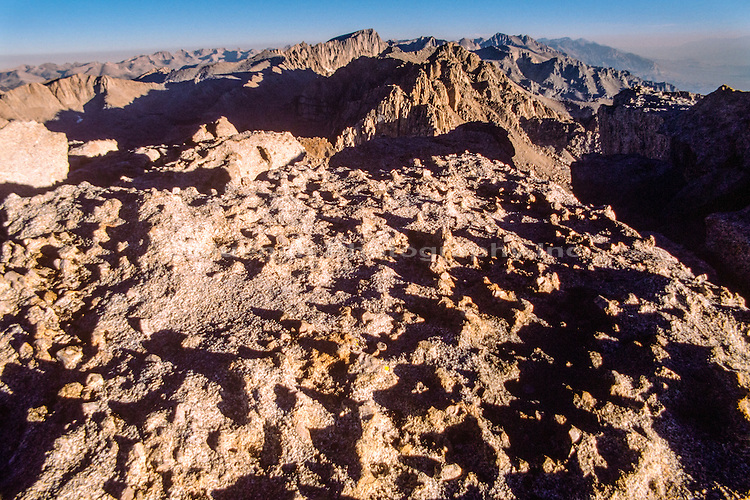 Mt Whitney from Mt Langley,Sierra Nevada Mountains,toprocks,California