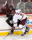 Josh Wilkins (PC - 15), Scott Savage (BC - 2) - The Boston College Eagles defeated the visiting Providence College Friars 3-1 on Friday, October 28, 2016, at Kelley Rink in Conte Forum in Chestnut Hill, Massachusetts.The Boston College Eagles defeated the visiting Providence College Friars 3-1 on Friday, October 28, 2016, at Kelley Rink in Conte Forum in Chestnut Hill, Massachusetts.