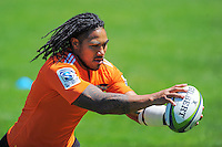 Ma'a Nonu in action during the Hurricanes Super rugby training at Rugby League Park, Wellington, New Zealand on Thursday, 8 January 2015. Photo: Dave Lintott / lintottphoto.co.nz