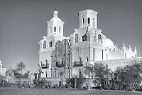 San Xavier del Bac Mission in the Santa Cruz Valley south of Tucson, Arizona