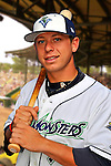 24 June 2008: Vermont Lake Monsters infielder James Keithley. Baseball Card Image for 2008. For in-house use by the Vermont Lake Monsters Only. Editorial or other use of images by other publications or media outlets must secure licensing from the photographer Ed Wolfstein prior to publication, and is based on standards of circulation, and placement in a given publication...Mandatory Credit: Ed Wolfstein.