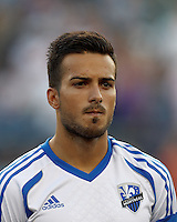 Montreal Impact defender Dennis Iapichino (17). In a Major League Soccer (MLS) match, Montreal Impact defeated the New England Revolution, 1-0, at Gillette Stadium on August 12, 2012.