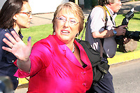 Chile's President Michelle Bachelet castes her ballot during runoff presidential elections in Santiago, Sunday, Jan. 17, 2010. Chileans went to the polls to choose between Sebastian Pinera candidate of the center-right opposition Coalition for Change and Eduardo Frei, of the center-left government coalition