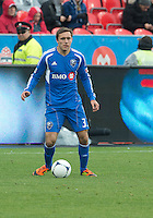 20 October 2012: Montreal Impact defender/forward Andrew Wenger #33 in action during an MLS game between the Montreal Impact and Toronto FC at BMO Field in Toronto, Ontario..The game ended in a 0-0 draw..