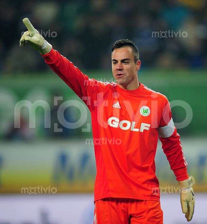 FUSSBALL   1. BUNDESLIGA    SAISON 2012/2013    15. Spieltag   VfL Wolfsburg - Hamburger SV                               02.12.2012 Torwart Diego Benaglio (VfL Wolfsburg)