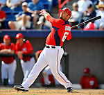 4 March 2011: Washington Nationals infielder Kevin Barker in action during a Spring Training game against the Atlanta Braves at Space Coast Stadium in Viera, Florida. The Braves defeated the Nationals 6-4 in Grapefruit League action. Mandatory Credit: Ed Wolfstein Photo