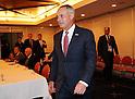MLB commissioner Robert Manftred Jr. attends press conference in Tokyo