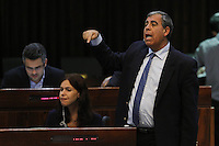 Deputy Finance Minister Mickey Levy during a vote on the so-called governability law. The governance law would raise the electoral threshold from 2 percent to 4 percent. Photo by Oren Nahshon