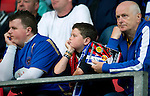 St Johnstone v Eskisehirspor...26.07.12  Europa League Qualifyer.Glum saints fans.Picture by Graeme Hart..Copyright Perthshire Picture Agency.Tel: 01738 623350  Mobile: 07990 594431