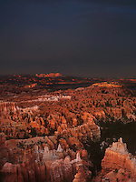 730750053v evening light casts a warm glow on the silent city hoodoos in a clearing monsoon summer storm seen from sunset point at bryce canyon national park utah