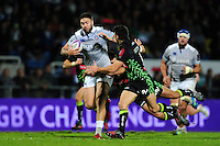 Matt Banahan of Bath Rugby takes on the Pau defence. European Rugby Challenge Cup match, between Pau (Section Paloise) and Bath Rugby on October 15, 2016 at the Stade du Hameau in Pau, France. Photo by: Patrick Khachfe / Onside Images