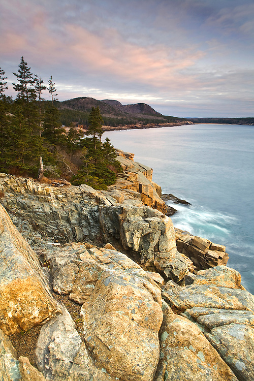 The Atlantic coastline from Otter Point in Acadia National Park, Maine