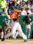 21 May 2007: Baltimore Orioles catcher Brian Bock in action against the Toronto Blue Jays at Doubleday Field during Baseball's Annual Hall of Fame Game in Cooperstown, NY. Bock was the game MVP going 3-for-4 with five RBIs, two home runs including a grand slam as the Orioles defeated the Blue Jays 13-7 in front of a sellout crowd of 9,791 at the historical ballpark...Mandatory Credit: Ed Wolfstein Photo