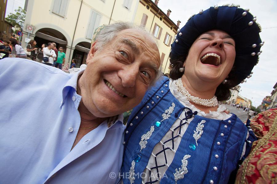 Castelfranco Emilia, Festa di San Nicola - Sagra del Tortellino (Tortellini Festival).<br /> Gianni Degli Angeli with Monica Larner, Dama 2011.