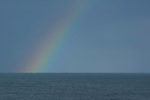 Rainbow over the Pacific Ocean, New Zealand