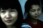Unidentified girls rescued from brothels  on March 21, 1997 at a home for abused children in  central Phnom Penh, Cambodia. Many underage girls are taken from the country side and and also from Vietnam and forced to work in brothels in the capital. .(Photo: Per-Anders Pettersson/ Liaison Agency)