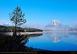 Jackson Lake, Grand Tetons, Cathedral Group, Mount Moran, Grand Teton National Park, Wyoming
