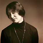 Studio portrait of young woman. 1976