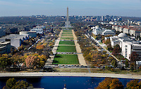 The Mall and the Washington Monument can be seen from the top of the recently restored US Capitol dome, November 15, 2016 in Washington, DC. <br /> Credit: Olivier Douliery / Pool via CNP /MediaPunch