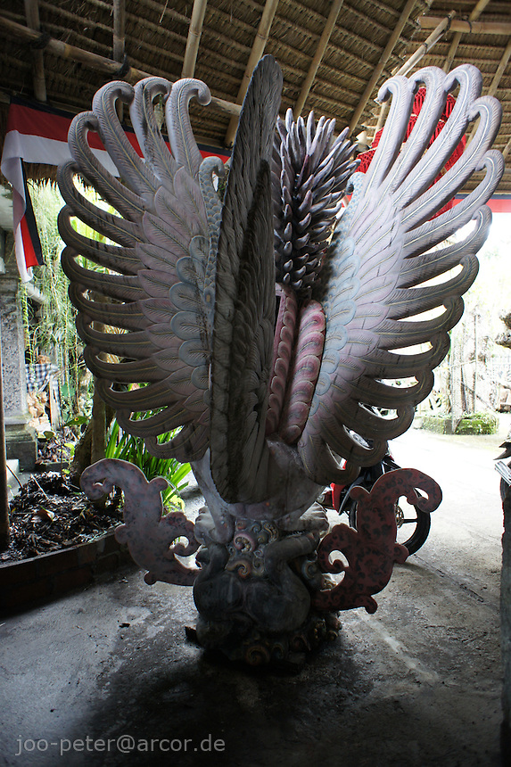 wood carving of Garuda by I Made Ada, Pakudui village Bali, archipelago Indonesia, 2010