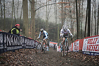 Eli Iserbyt (BEL/Marlux - Napoleon Games) lifting his front wheel<br /> <br /> UCI Cyclocross World Cup Namur/Belgium 2016