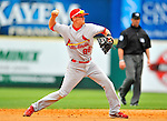7 March 2012: St. Louis Cardinal infielder Ryan Jackson in action against the Washington Nationals at Space Coast Stadium in Viera, Florida. The teams battled to a 3-3 tie in Grapefruit League Spring Training action. Mandatory Credit: Ed Wolfstein Photo