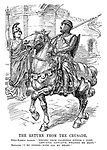 """The Return from the Crusade. Field-Marshal Allenby. """"'Singing from Palestine hither I come; Lady-Love, Lady-Love, welcome me home.'"""" Britannia. """"I do indeed - with all my heart!"""""""