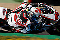 May 1, 2010 - Jerez, Spain - Japanese Shoya Tomizawa powers his bike during a free Moto 2 practice session at Jerez de la Frontera's circuit on May 1, 2010. (Photo Andrew Northcott/Nippon News).