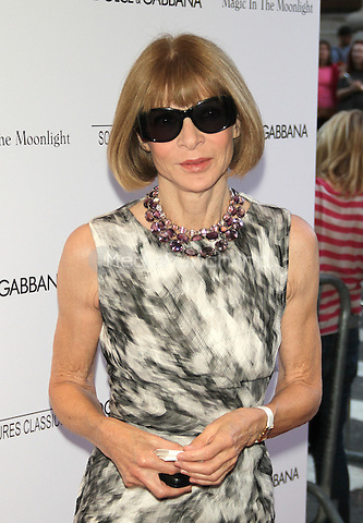 NEW YORK, NY - JULY 17: Anna Wintour at the 'Magic In The Moonlight' premiere at the Paris Theater on July 17, 2014 in New York City. Credit: RW/MediaPunch