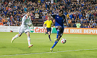 Santa Clara, California - May 7, 2014: San Jose Earthquakes face off against Houston Dynamo at Buck Shaw Stadium on Saturday.
