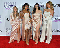 Fifth Harmony at the 2017 People's Choice Awards at The Microsoft Theatre, L.A. Live, Los Angeles, USA 18th January  2017<br /> Picture: Paul Smith/Featureflash/SilverHub 0208 004 5359 sales@silverhubmedia.com