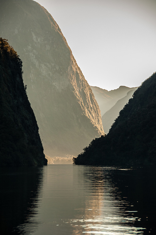 Hall Arm in Doubtful Sound, Fiorldland National Park, South Island, New Zealand - stock photo, canvas, fine art print