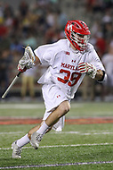 College Park, MD - April 29, 2017: Maryland Terrapins Ben Chisolm (39) runs with the ball during game between John Hopkins and Maryland at  Capital One Field at Maryland Stadium in College Park, MD.  (Photo by Elliott Brown/Media Images International)