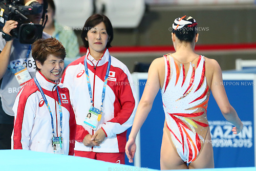 (L-R) Masayo Imura, Risako Takita, Yukiko Inui (JPN), JULY 31, 2015 - Synchronised Swimming : 16th FINA World Championships Kazan 2015 Solo Free Routine Final at Kazan Arena in Kazan, Russia. (Photo by Yohei Osada/AFLO SPORT)