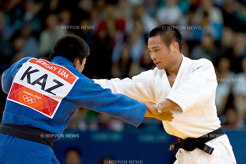 Masashi Ebinuma (JPN), .JULY 29, 2012 - Judo : .Men's -66kg Elimination round of 16 match at ExCeL during the London 2012 Olympic Games in London, UK.  . (Photo by Enrico Calderoni/AFLO SPORT)