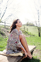 Philadelphia, PA, April 21, 2015 - A portrait of Josie Maran, model & owner of Josie Maran Cosmetics, at her farm house in Newtown Square, Pennsylvania.