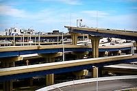 Recently completed (2009) Marquette Interchange near downtown Milwaukee.