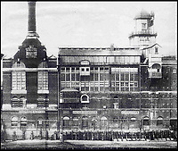 BNPS.co.uk (01202 558833)<br /> Pic: KnightFrank/BNPS<br /> <br /> Anchor Brewhouse in the 1930s.<br /> <br /> Best views in London...<br /> <br /> Iconic buildings such as the Shard, the BT Tower and St Paul's Cathedral are all visible from this extraordinary property while Tower Bridge is literally a stone's throw. <br /> <br /> The lavish &pound;13million penthouse, called The High Command, is situated atop a historic brewing warehouse once home to Courage Brewery on the banks of the Thames. <br /> <br /> Perched right at the top of the former warehouse and and arranged over five floors, the 4280sqft pad is designed to make the most of the unrivalled views<br /> <br /> The property boasts a series of terraces and a multitude of floor to ceiling windows throughout.