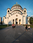 St. Sava Cathedral, Belgrade, Serbia<br /> <br /> One of the ten largest churches in the world, Temple St. Sava is built on Vra?ar hill, the location where his remains were burned in 1595 by Ottoman Grand Vizier Sinan Pasha to squelch a Serbian uprising in the 16th century.