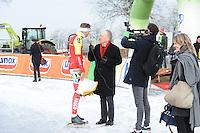 SCHAATSEN: NOORDLAREN: 18-01-2017, IJsvereniging De Hondsrug, de eerste marathon op natuurijs van 2017, Robert Post, Dominee Gremdaat, ©foto Martin de Jong