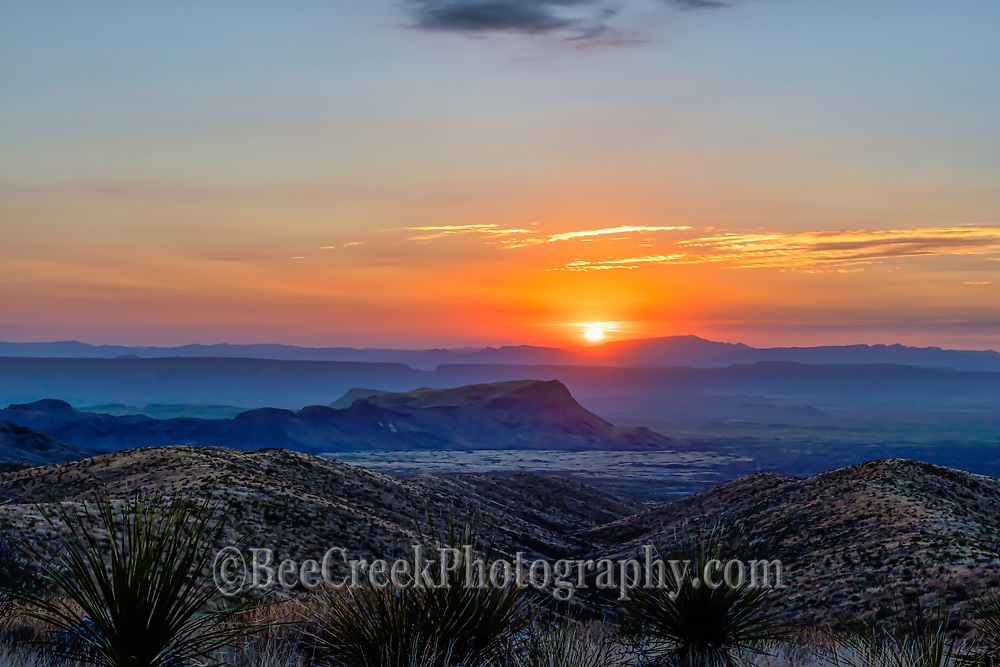 Another capture of the sunset landscape over the Santa Elena Canyon from the Sotal Vista Overlook