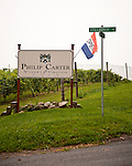 The sign for Philip Carter Winery.