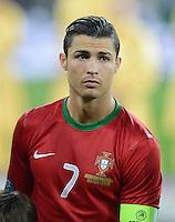 FUSSBALL  EUROPAMEISTERSCHAFT 2012   VORRUNDE Deutschland - Portugal          09.06.2012 Cristiano Ronaldo (Portugal)