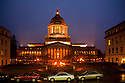 WA08227-00...WASHINGTON - Evening at the Washington State Capitol building in Olympia.