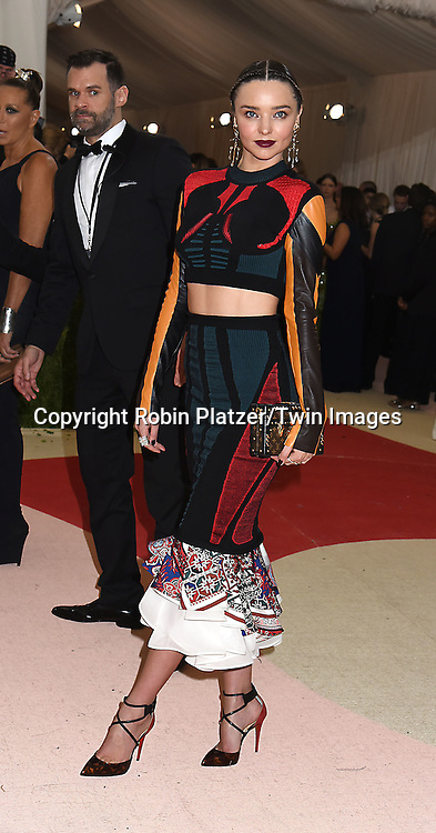 Miranda Kerr attends the Metropolitan Museum of Art Costume Institute Benefit Gala on May 2, 2016 in New York, New York, USA. The show is Manus x Machina: Fashion in an Age of Technology. <br /> <br /> photo by Robin Platzer/Twin Images<br />  <br /> phone number 212-935-0770