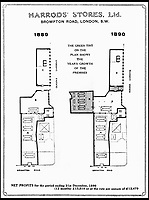 BNPS.co.uk (01202 558833)<br /> Pic: Harrods/BNPS<br /> <br /> A floor plan of Harrods 1889/1890.<br /> <br /> Harrods was almost shut down in the 1830s long before it became a worldwide name because of its founder's criminal dealings, a new book has revealed.<br /> <br /> In The Jewel of Knightsbridge, The Origins of the Harrods Empire, author Robin Harrod discovered his great great grandfather, Harrods founder Charles Henry Harrod, was on the brink of being deported to Australia for handling stolen goods in 1836.<br /> <br /> He was only saved from his sentence of seven years transportation (deportation) by a petition on his behalf which vowed he would turn his back on crime.<br /> <br /> The Jewel of Knightsbridge: The Origins of The Harrods Empire by Robin Harrod, published by The History Press, costs &pound;20 and will be released on February 13.